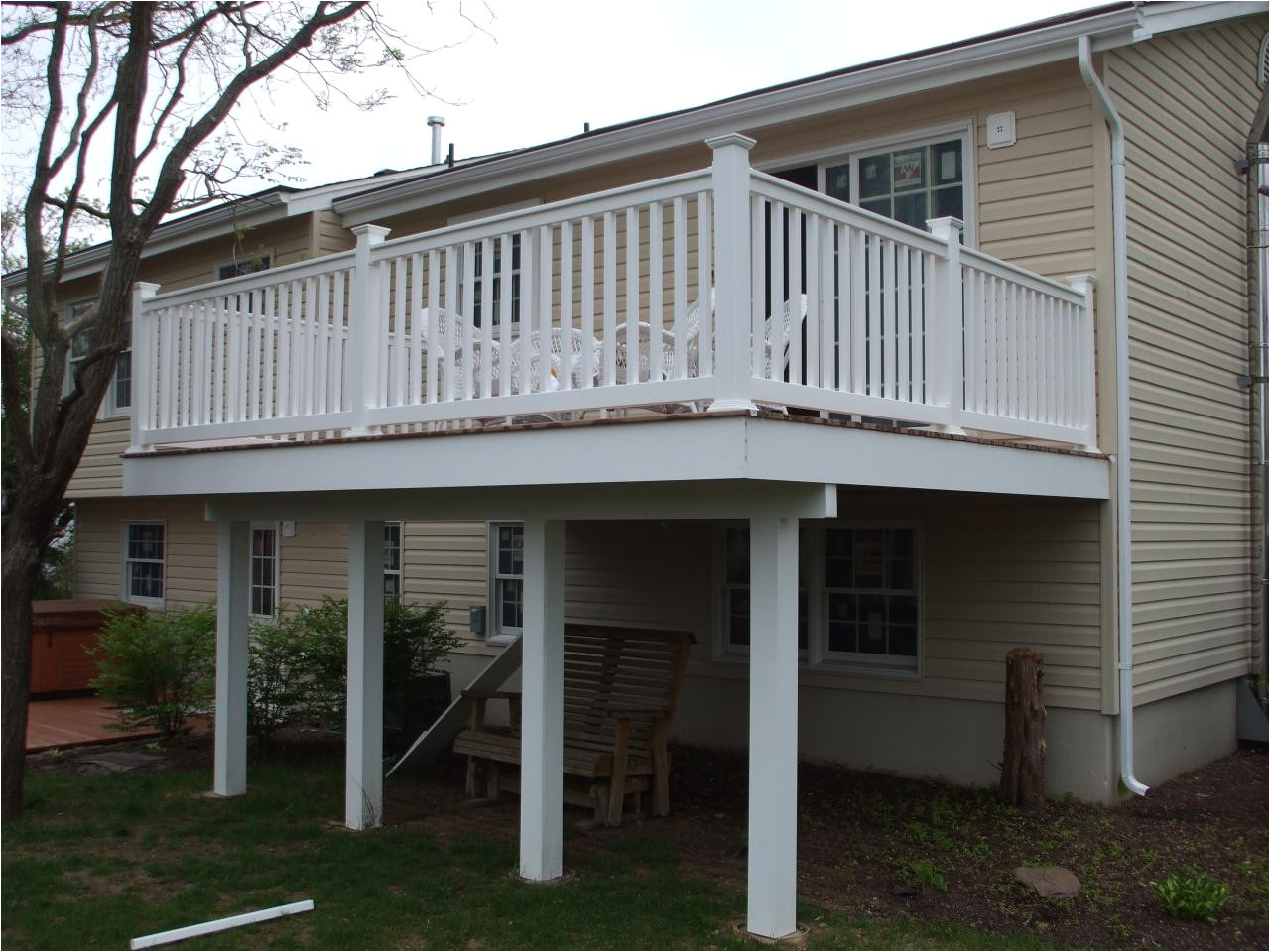 House Plans with Second Story Porch Deck Second Floor forked River Nj Ideas