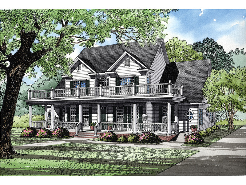 House Plans with Second Story Porch Howdershell Luxury Home Plan 055s 0001 House Plans and More
