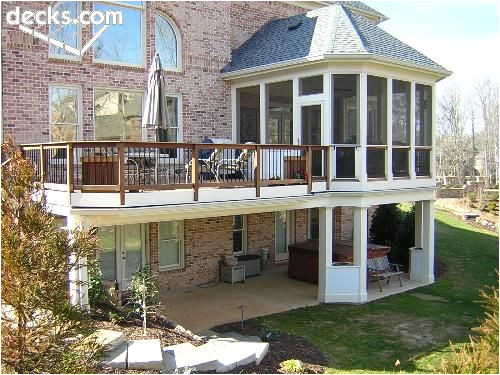 House Plans with Second Story Porch Metal Railings In Enclosed Portion Allow Better View Of