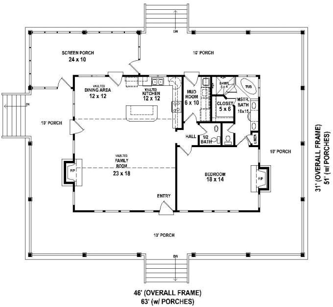 small open floor house plans