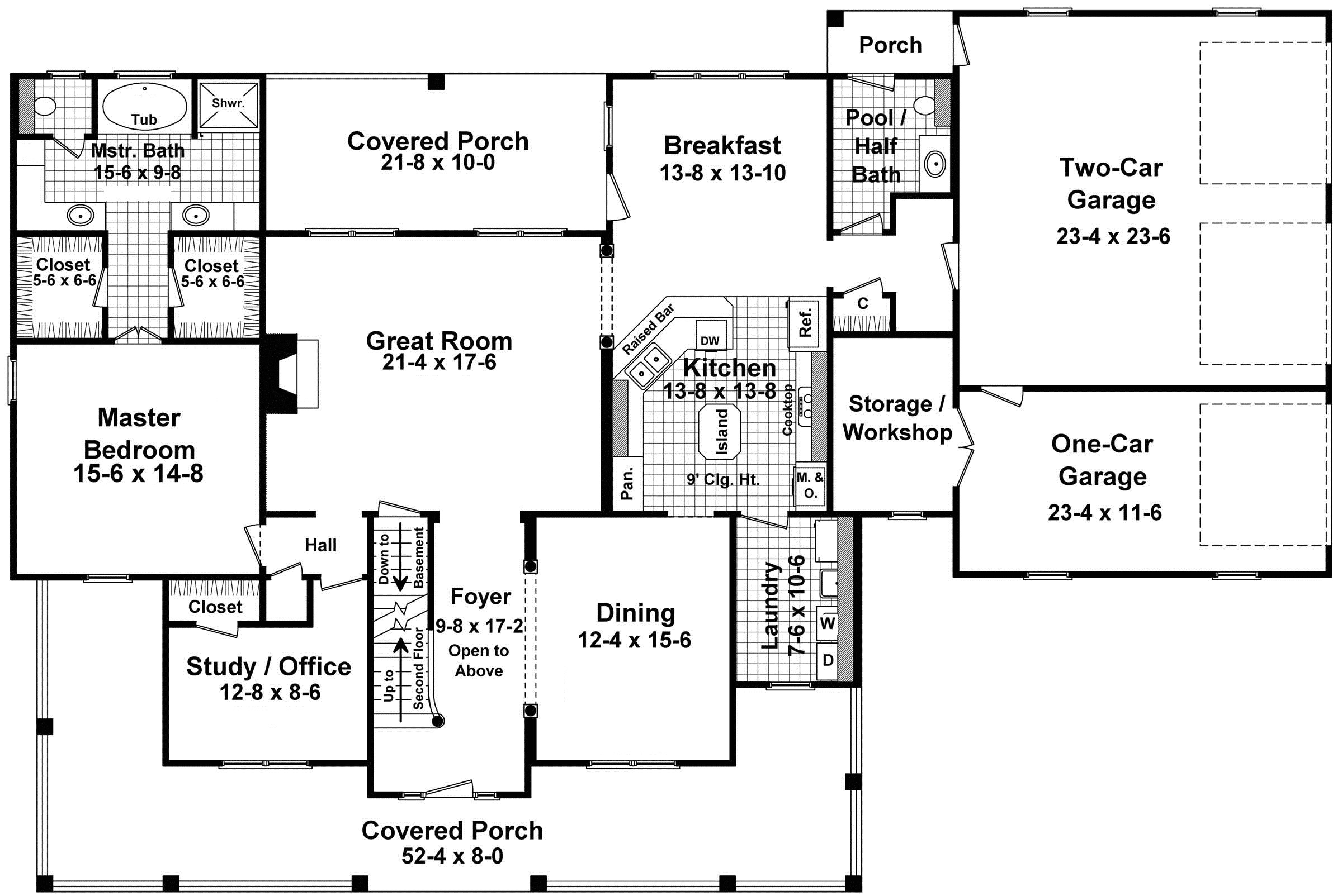 7285 country home floor plans with porches