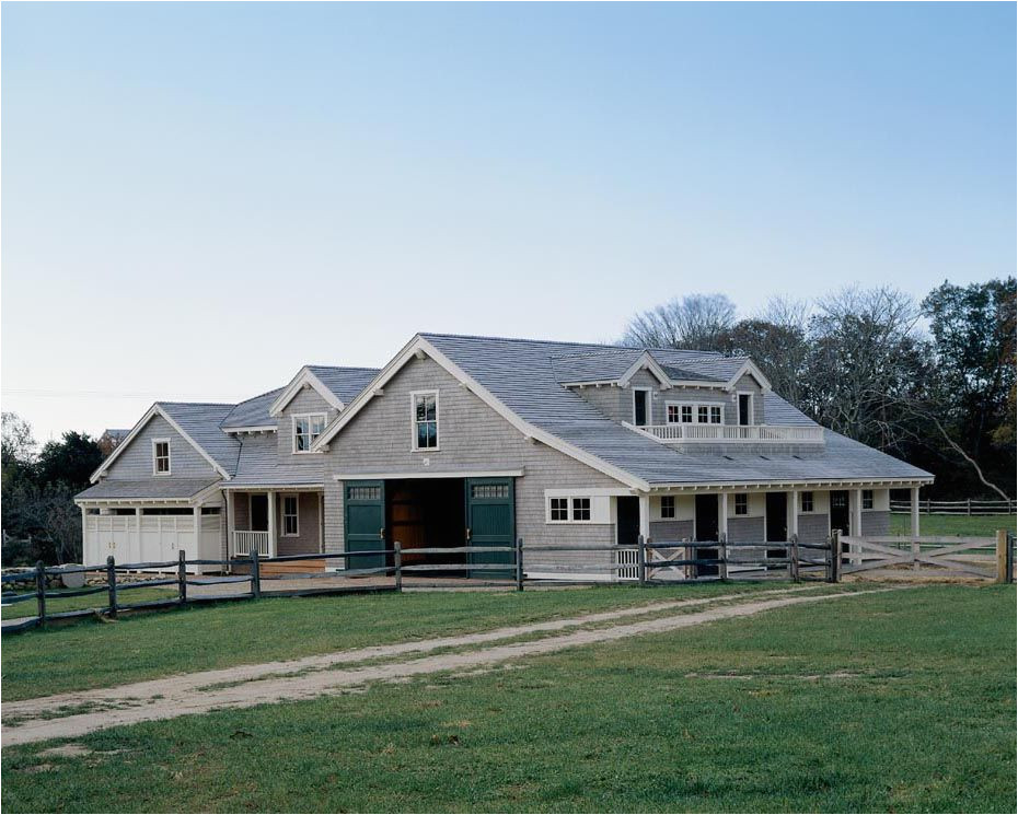 home plans with attached barn