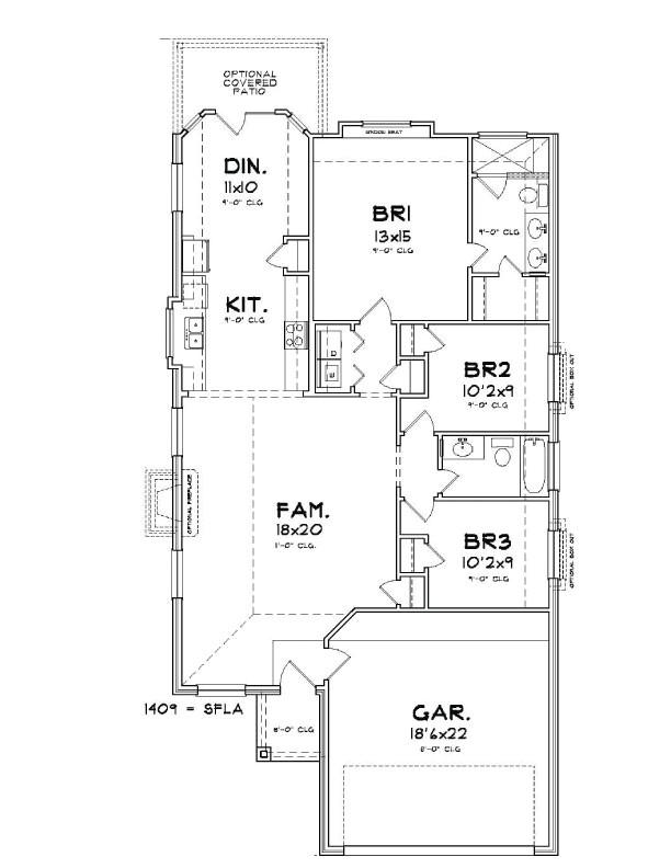 Houston Home Builders Floor Plans Plan 1409 Saratoga Homes Houston
