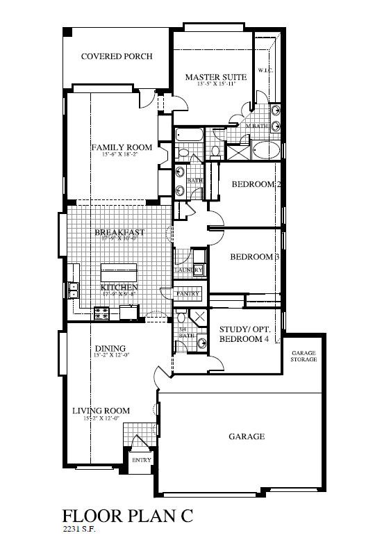 Houston Home Builders Floor Plans Plan 2231 Saratoga Homes Houston