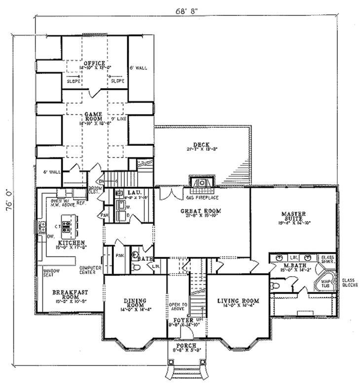 huff house floor plans