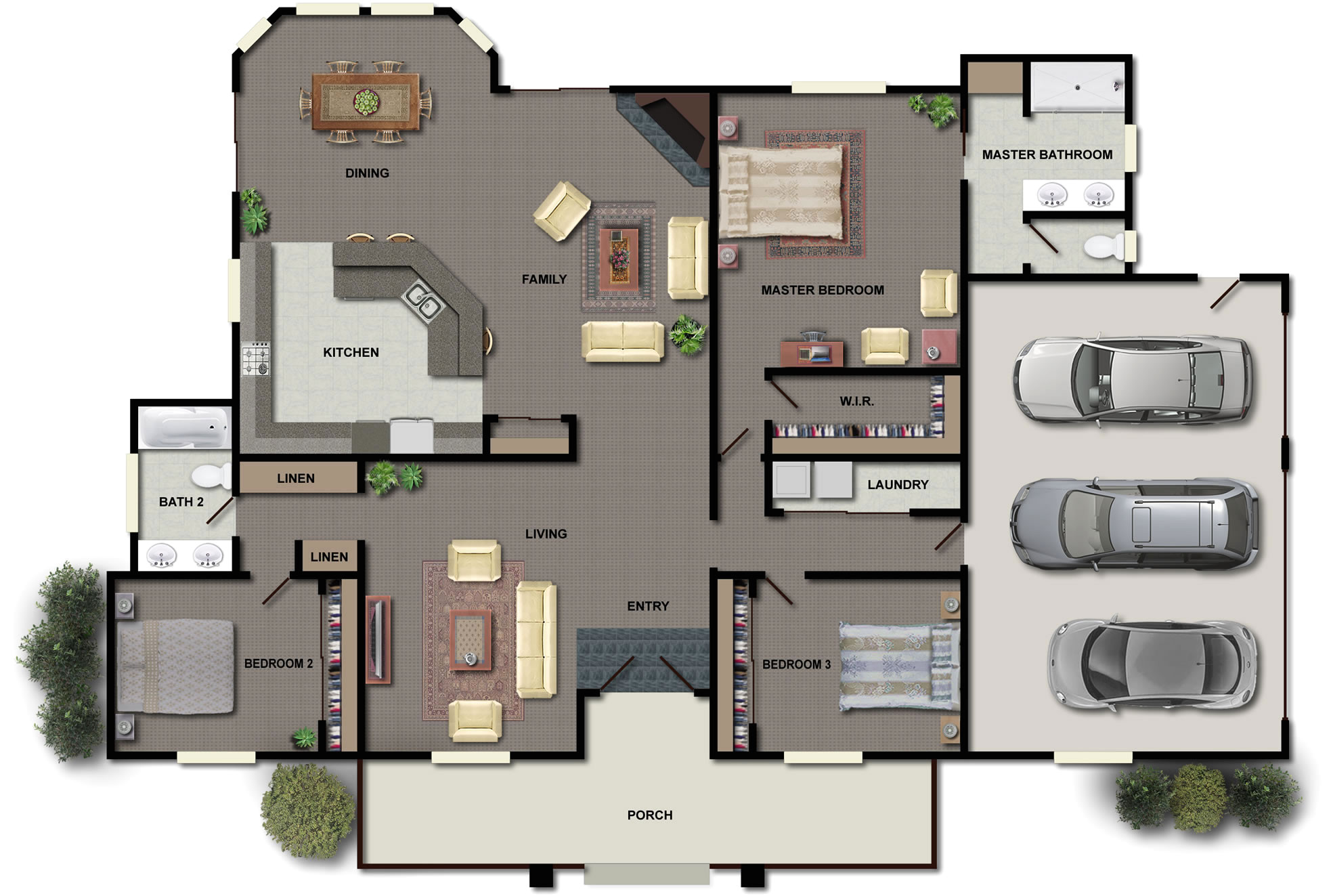 the concept of big houses floor plans