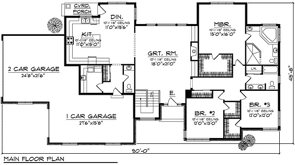 exceptional large ranch home plans 6 ranch house plans with large great room