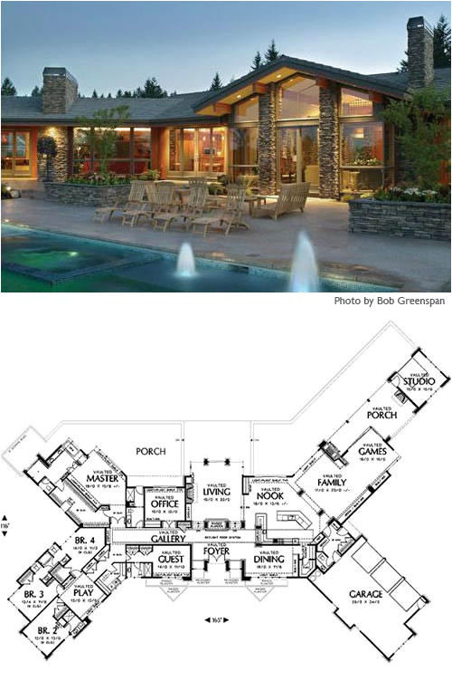lovely large ranch home plans 4 cliff may ranch house floor plans