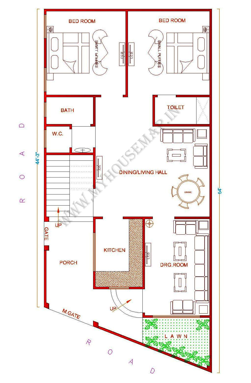 indian house map design sample