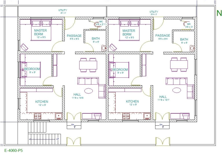 40 feet 60 vastu home plans must see