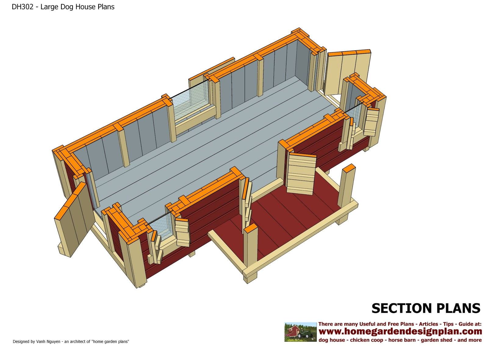 Insulated Dog House Building Plans Home Garden Plans Dh302 Insulated Dog House Plans