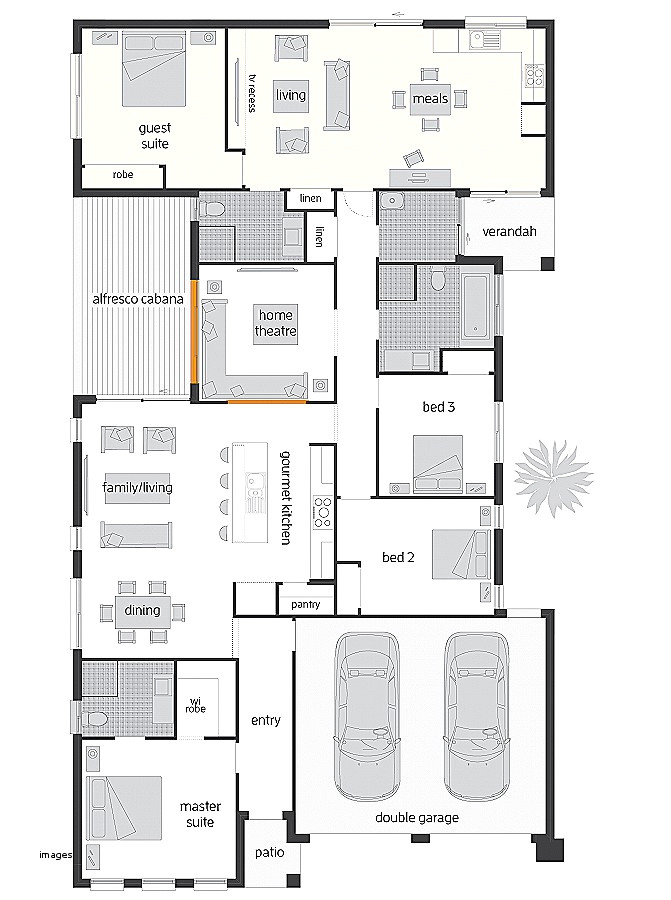 inverted beach house plans