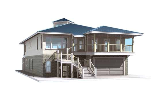 inverted house plans