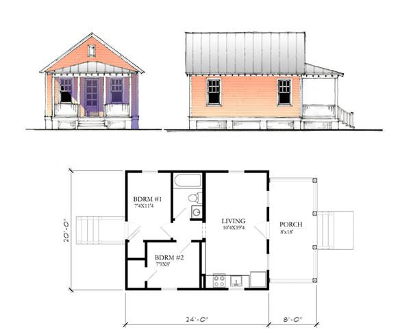 Katrina Home Plan the Katrina Cottage Model 480
