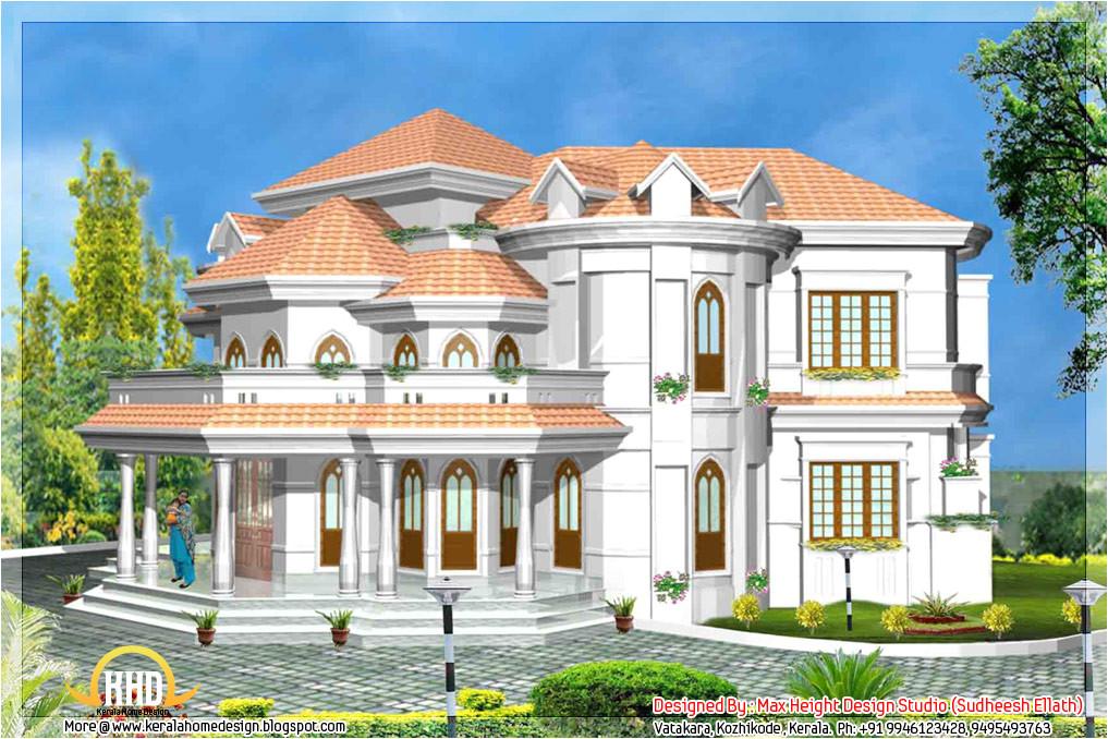 5 kerala style house 3d models