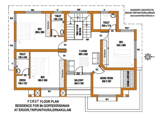 kerala house plans estimate 2900 sq ft home design
