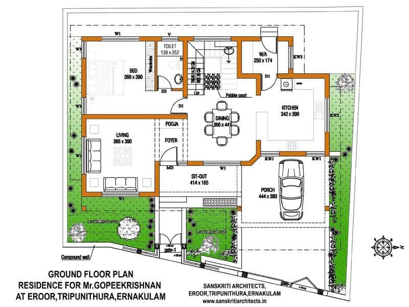 Kerala Home Plans with Estimate Kerala House Plans with Estimate for A 2900 Sq Ft Home Design