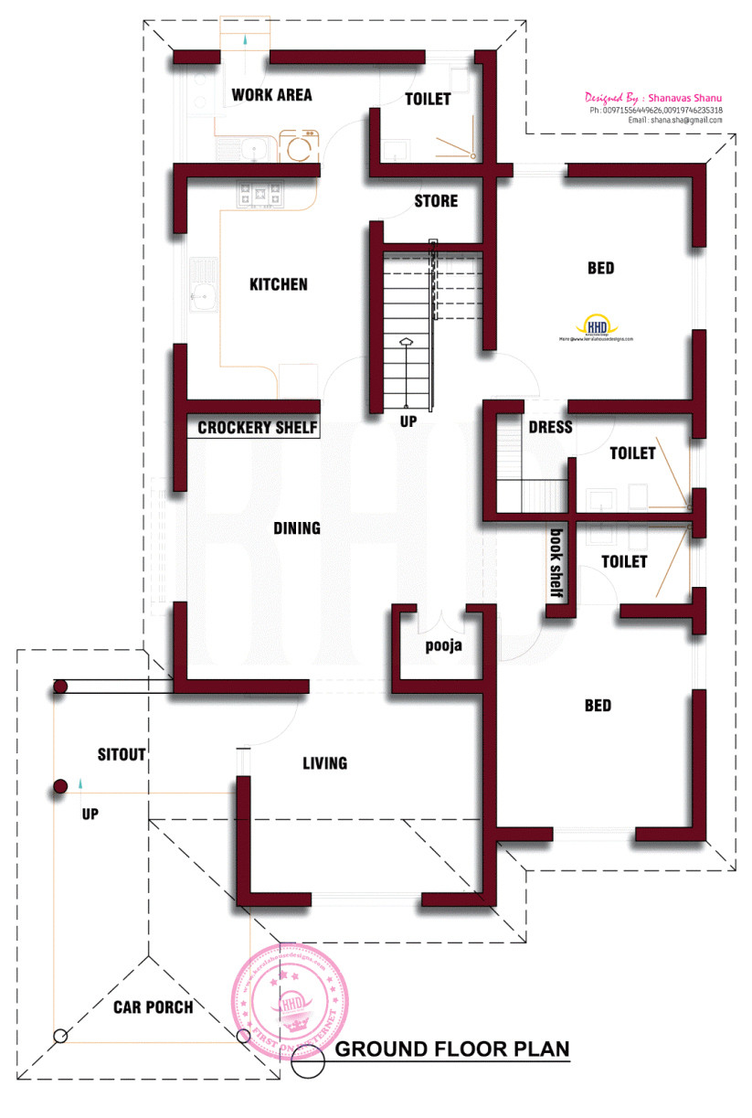 kerala style house plans with estimates