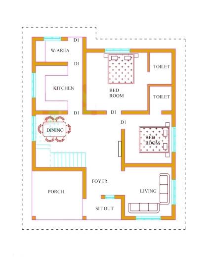 marvelous kerala house plans with estimate 20 lakhs 1500 sqft kerala house plans image
