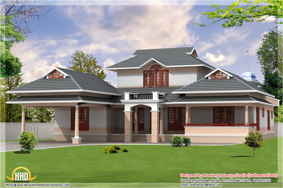 3 kerala style dream home elevations
