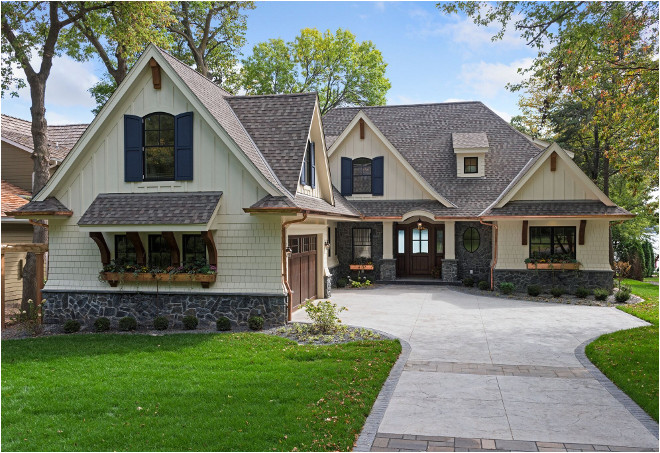 classic lake cottage home design