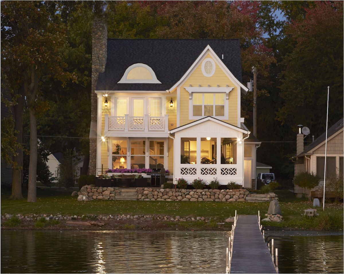 narrow lakefront home plans