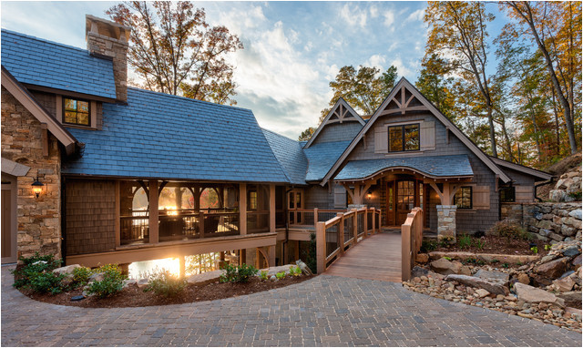 lakefront residence i the reserve at lake keowee traditional exterior other metro