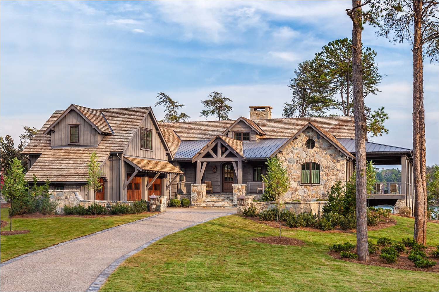 Lake Keowee House Plans Timber Frame Home with Farmhouse Interiors Overlooking