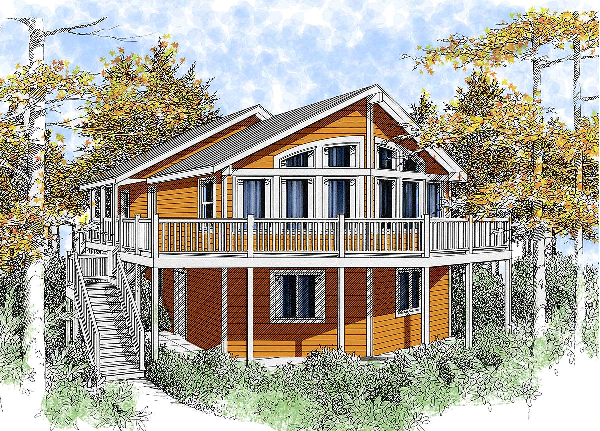 wide open lakefront home plan 14001dt
