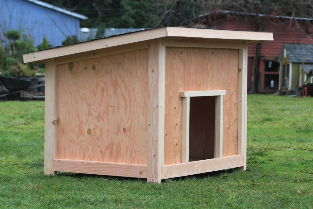 wood dog house plans