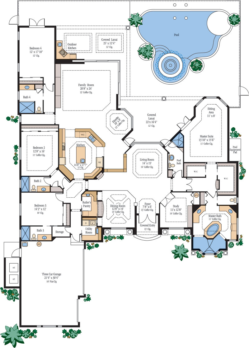 large luxury home floor plans