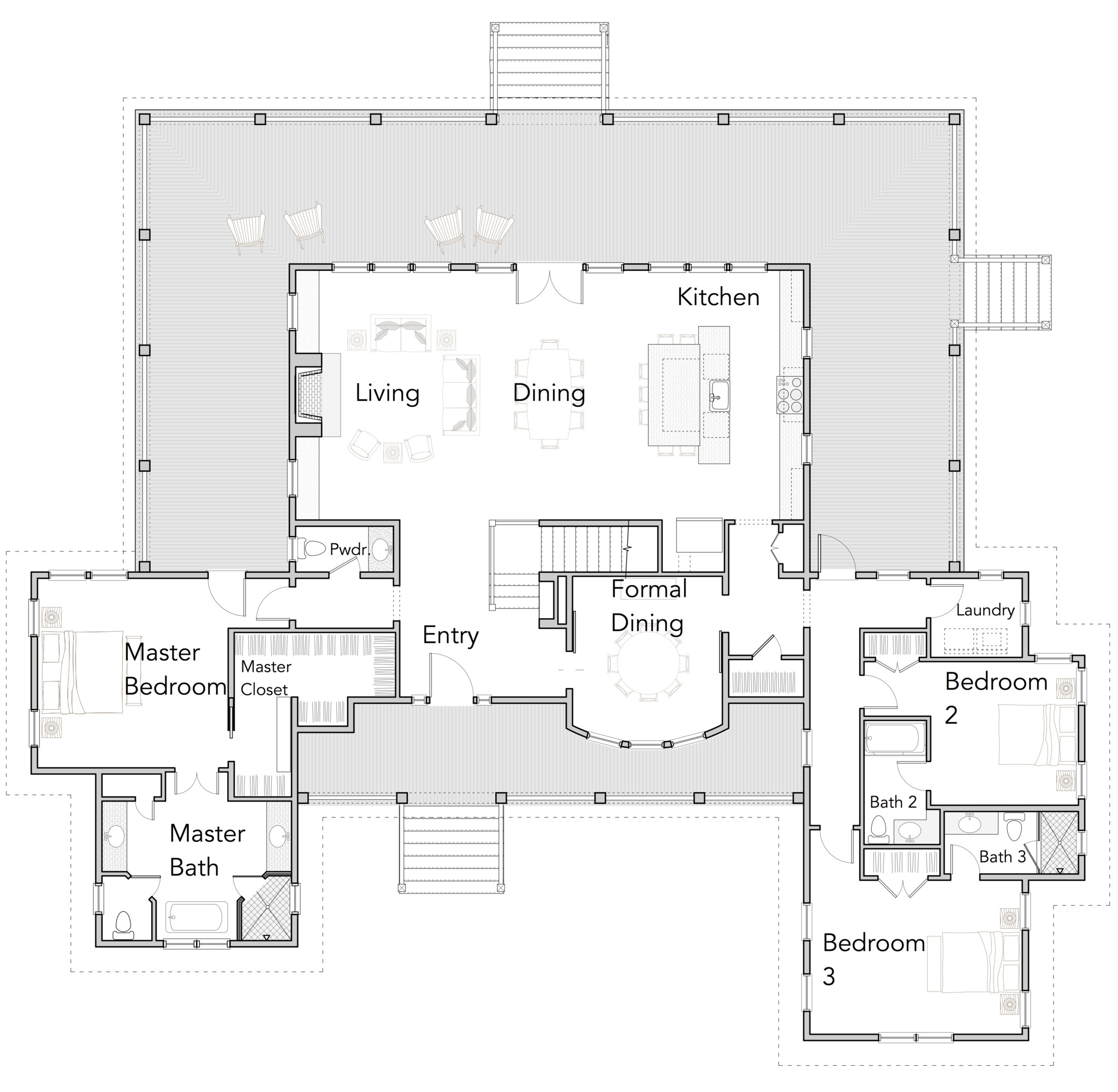 large open floor plans with wrap around porches rest collection 10