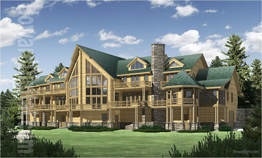 big sky log home plan floor plans