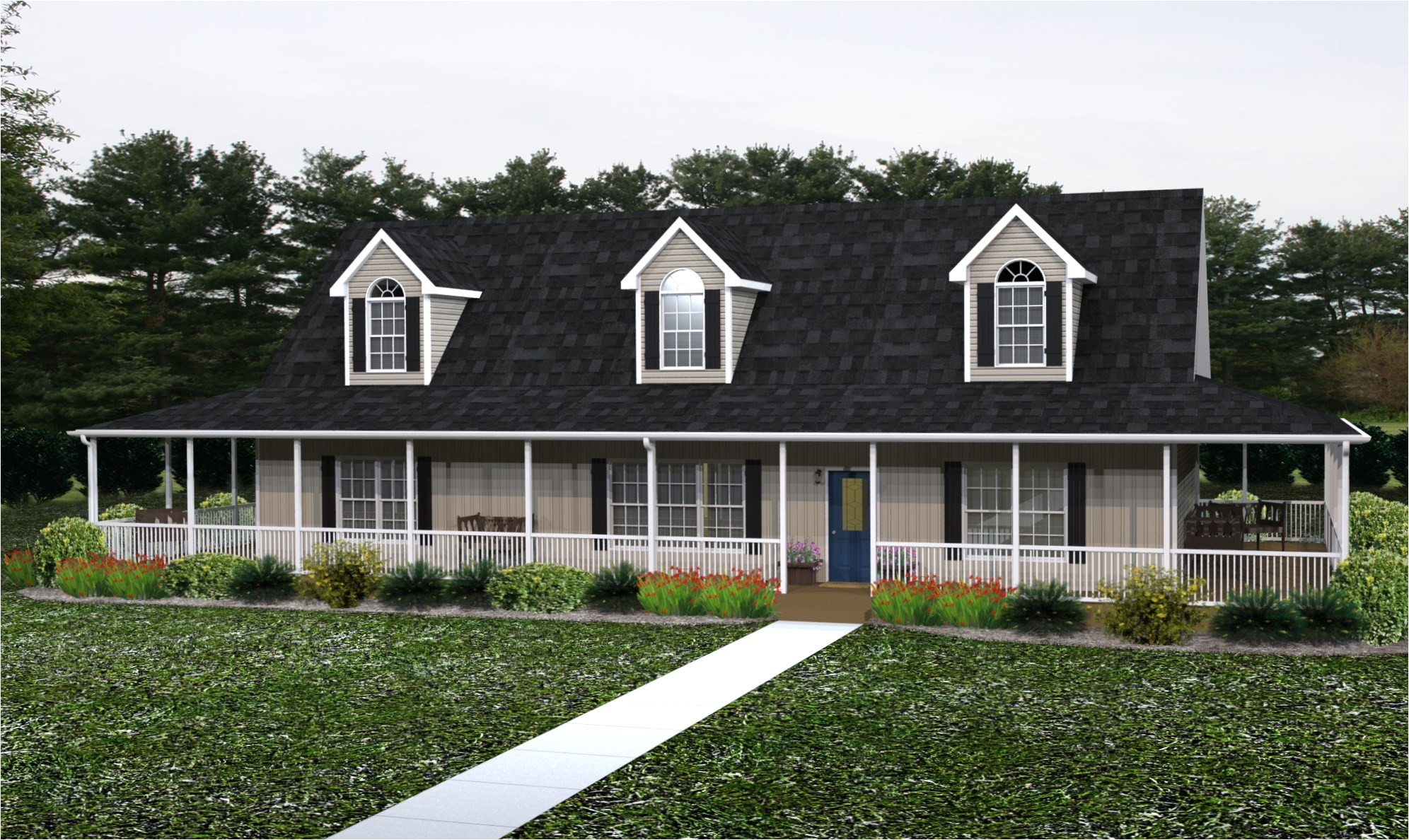 10225 modular homes with large porches