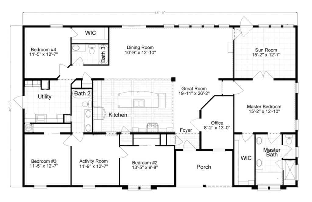 the tradewinds is a beautiful 4 bedroom 2 bath triple wide with modular home floor plans florida