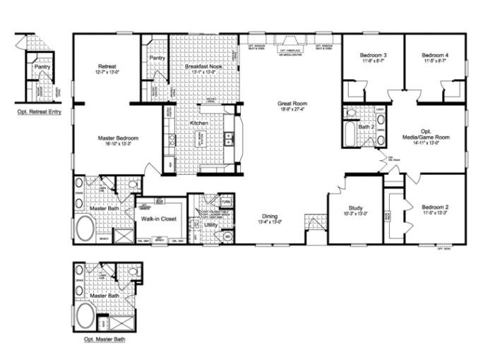 the evolution vr41764c manufactured home floor plan or modular with elegant large modular home floor plans