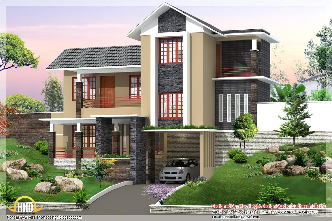 new trendy 4bhk kerala home design 2680