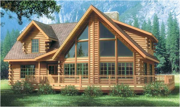 bristol iv log home plan