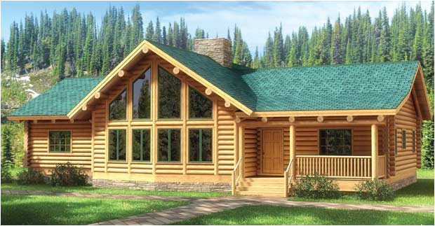fall river log home plan