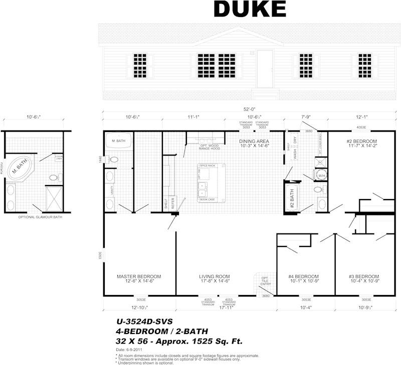 Live Oak Mobile Homes Floor Plans Live Oak Homes Melrose Floor Plan