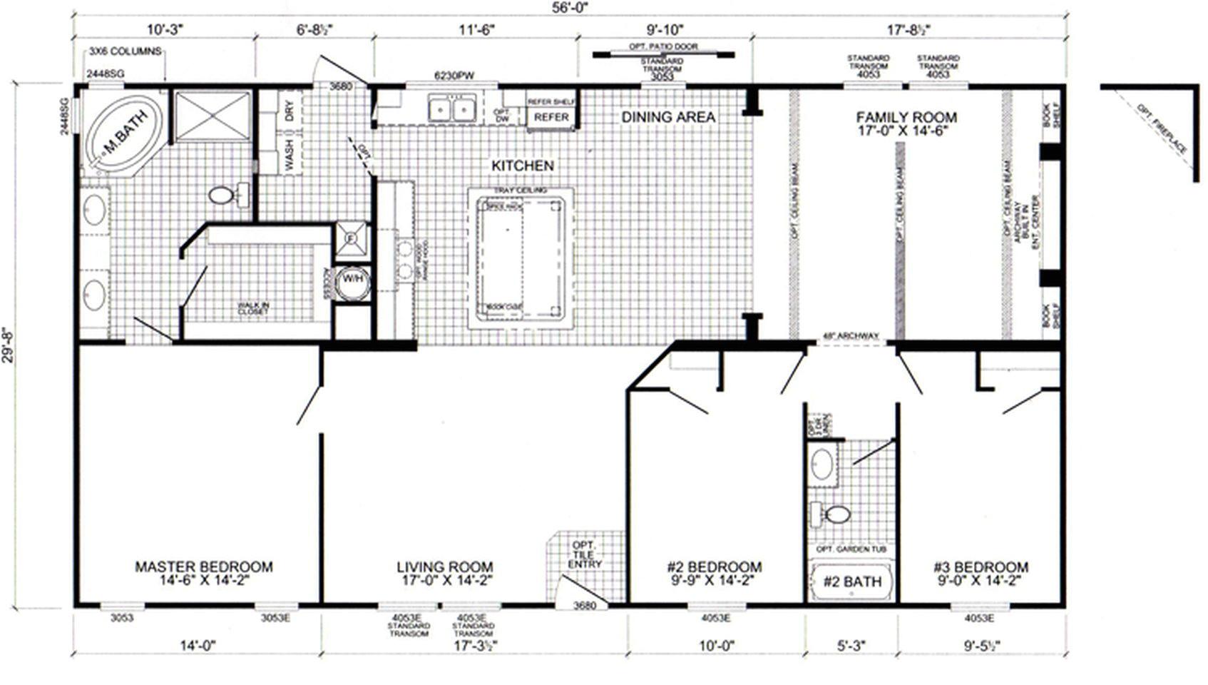 live oak mobile home floor plans
