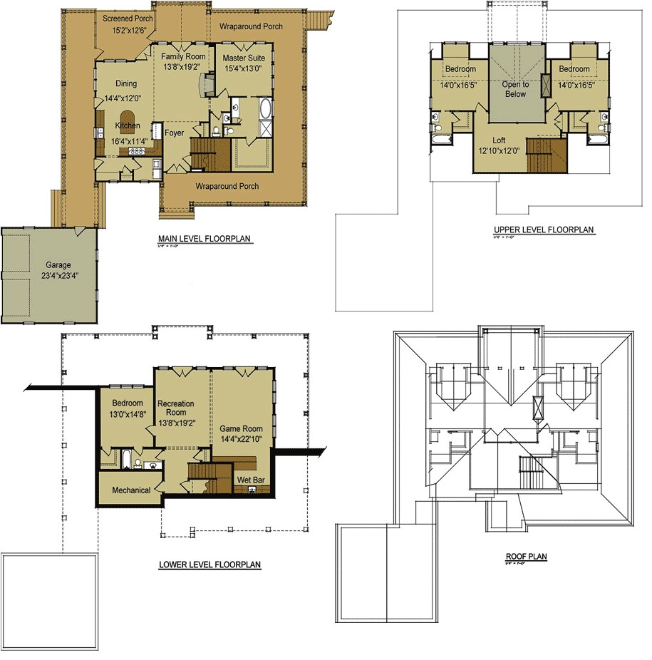 5817 ranch house floor plans with loft