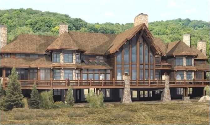 log and stone homes inspiration