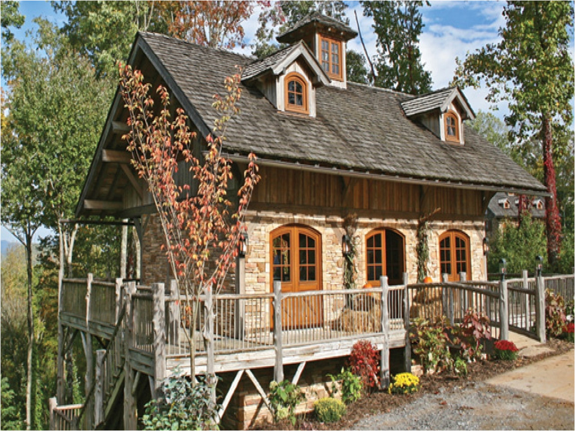 log cabin stone house plans