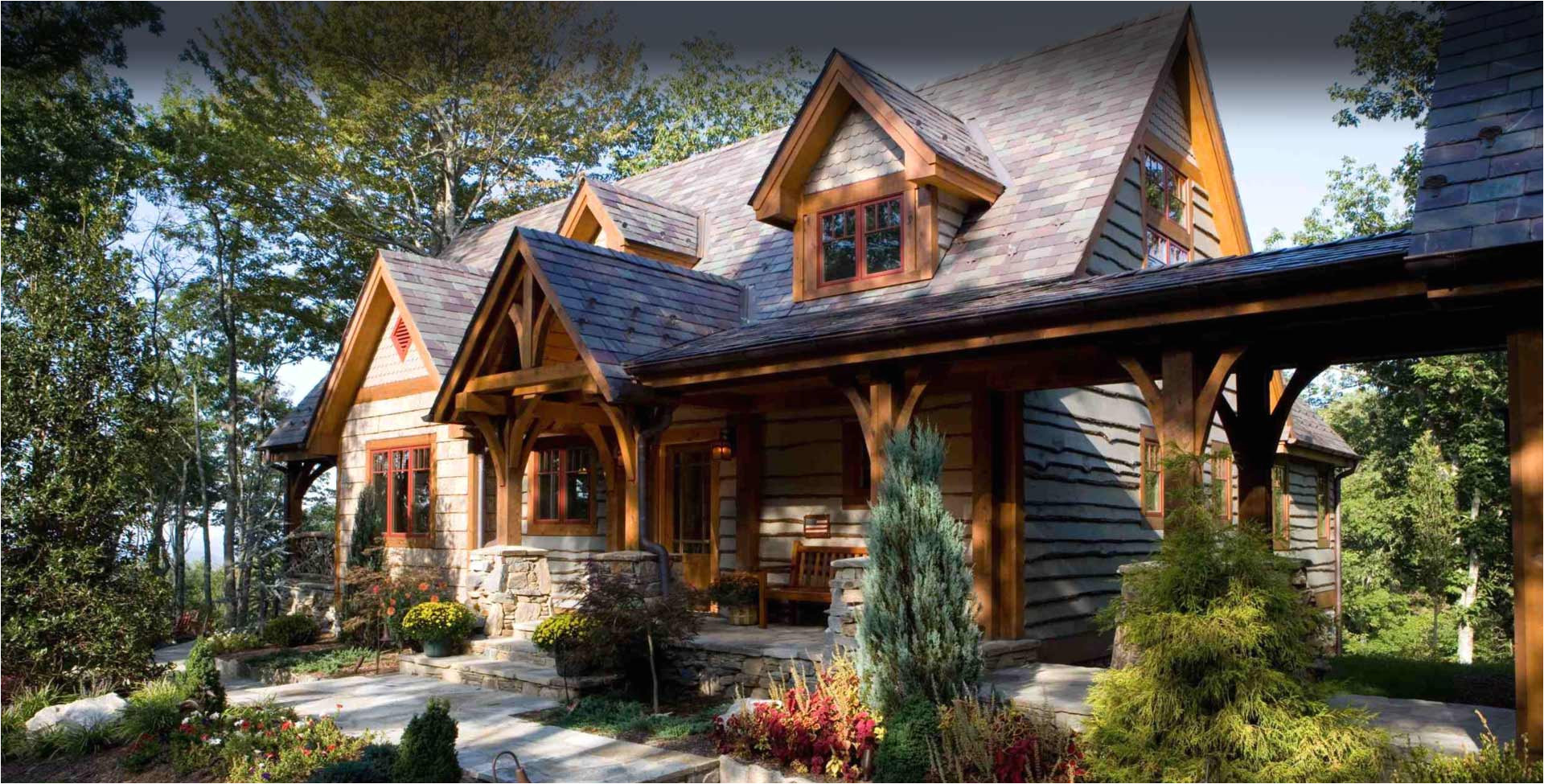 log cabin stone house plans