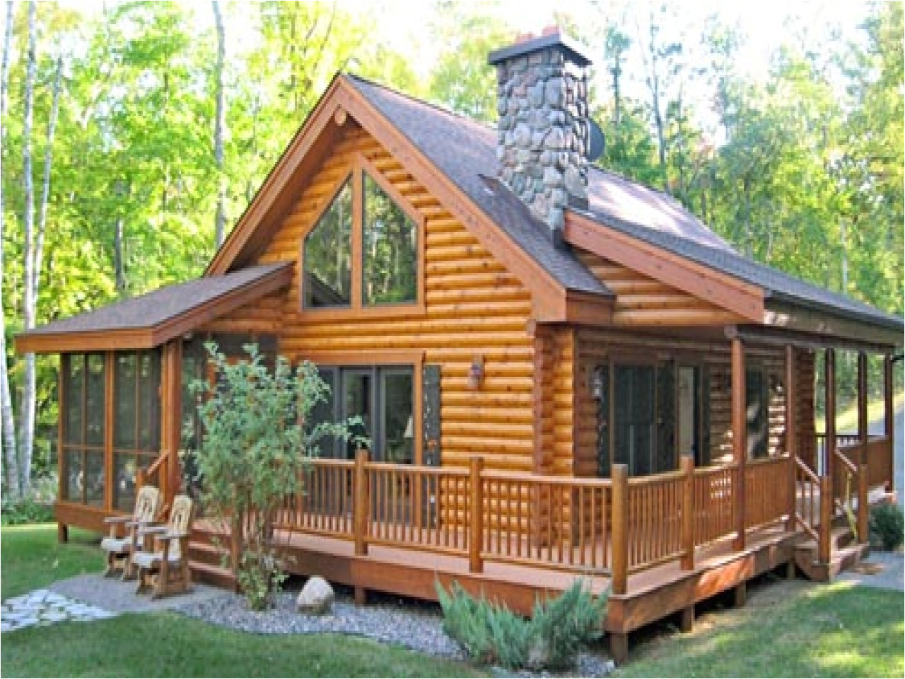 1183 log cabin house plans with porches