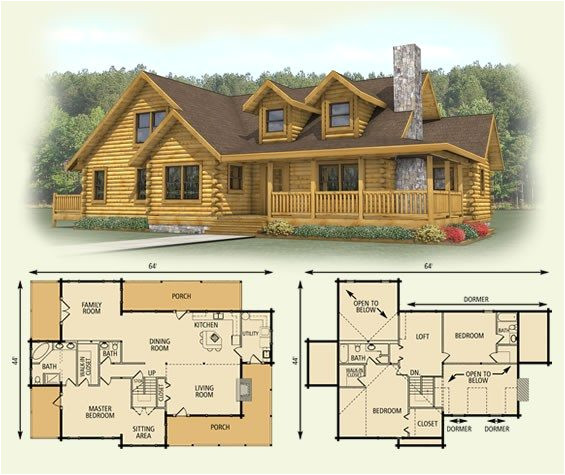 log home floor plans with loft