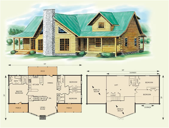 log home house plans with loft