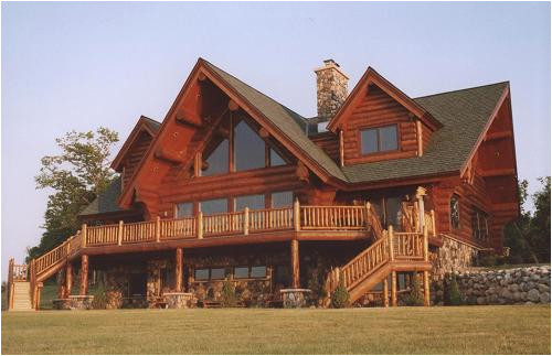 log home plans walkout basement