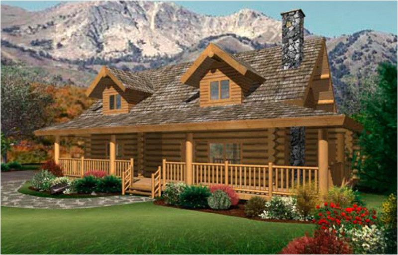 ranch log homes floor plans